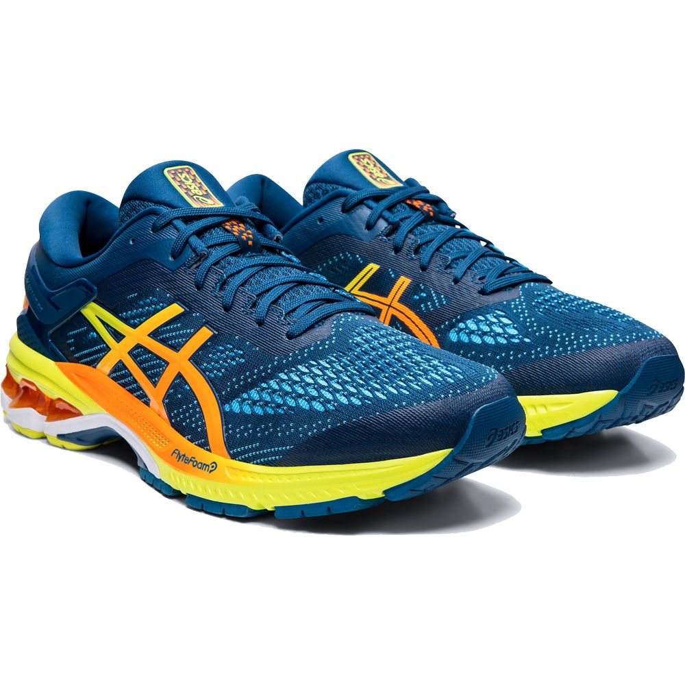ASICS Gel Kayano 26 Shine Running Shoes Men mako blue sour
