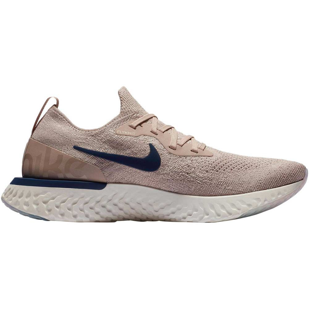 Epic React Nike - Epic React Flyknit Running Shoes Men diffused taupe blue ...
