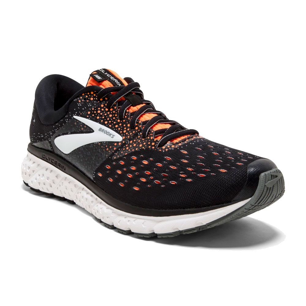 54fcf6ddeb40c Brooks - Glycerin 16 running shoes men black orange grey at Sport ...