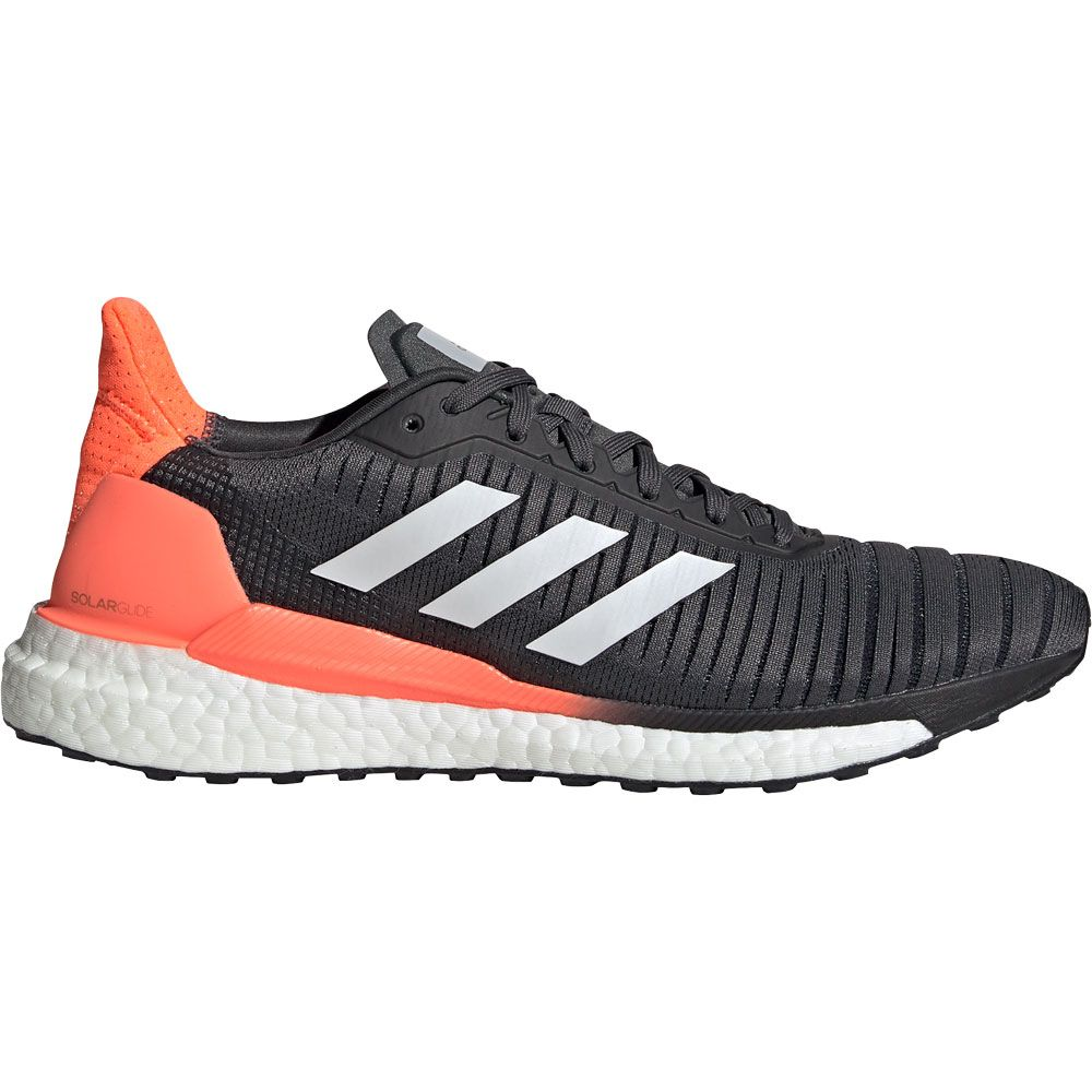 adidas Solarglide 19 Running Shoes Men grey six footwear white signal coral