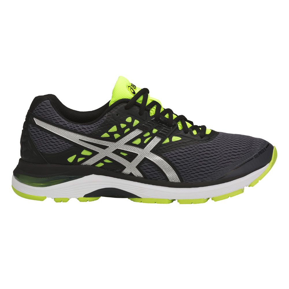 ASICS Gel Pulse 9 Running Shoes Men carbon silver safety yellow