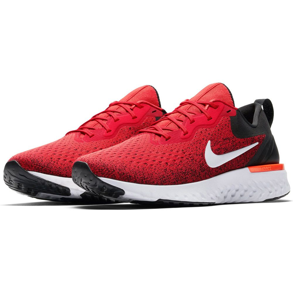 Nike Odyssey React Running Shoes Men habanero red black