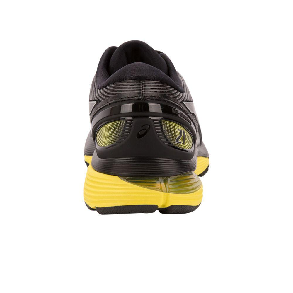 ASICS GEL Nimbus 21 Running Shoes Men black lemon spark