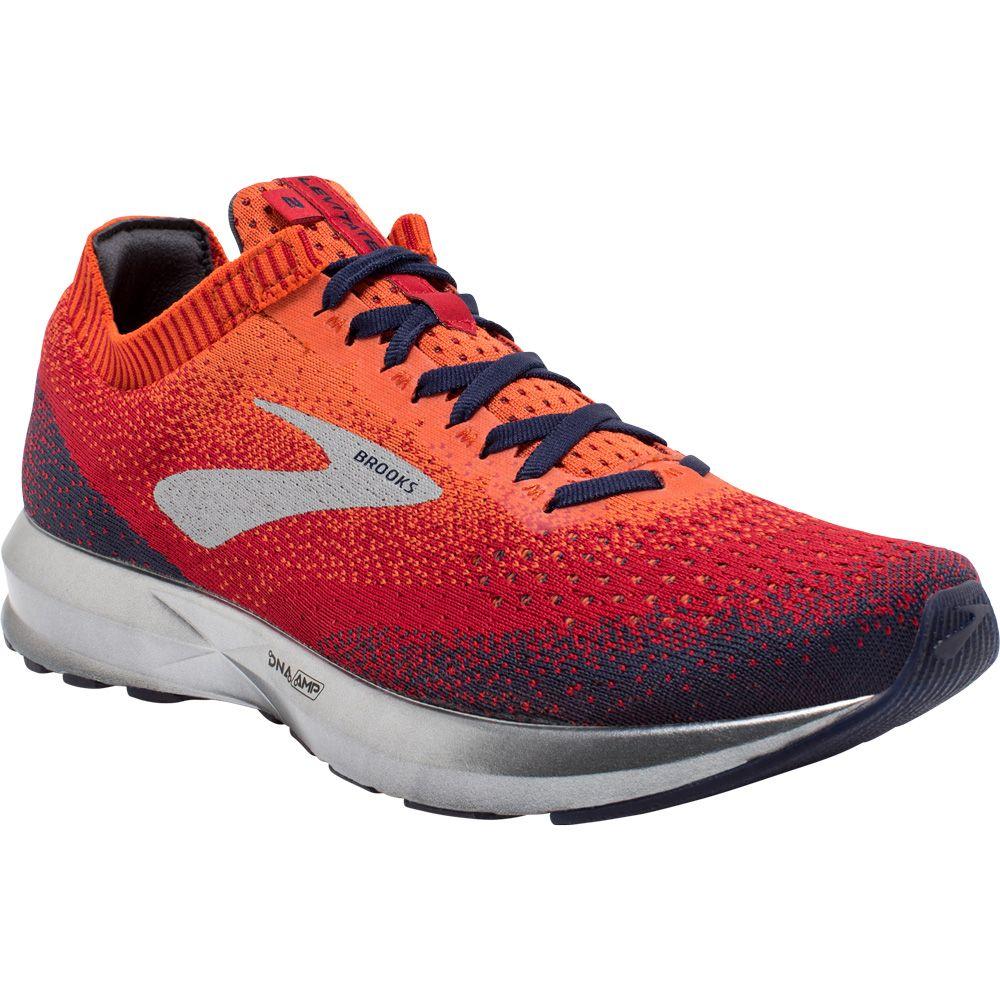 Running Shoes Men orange red navy