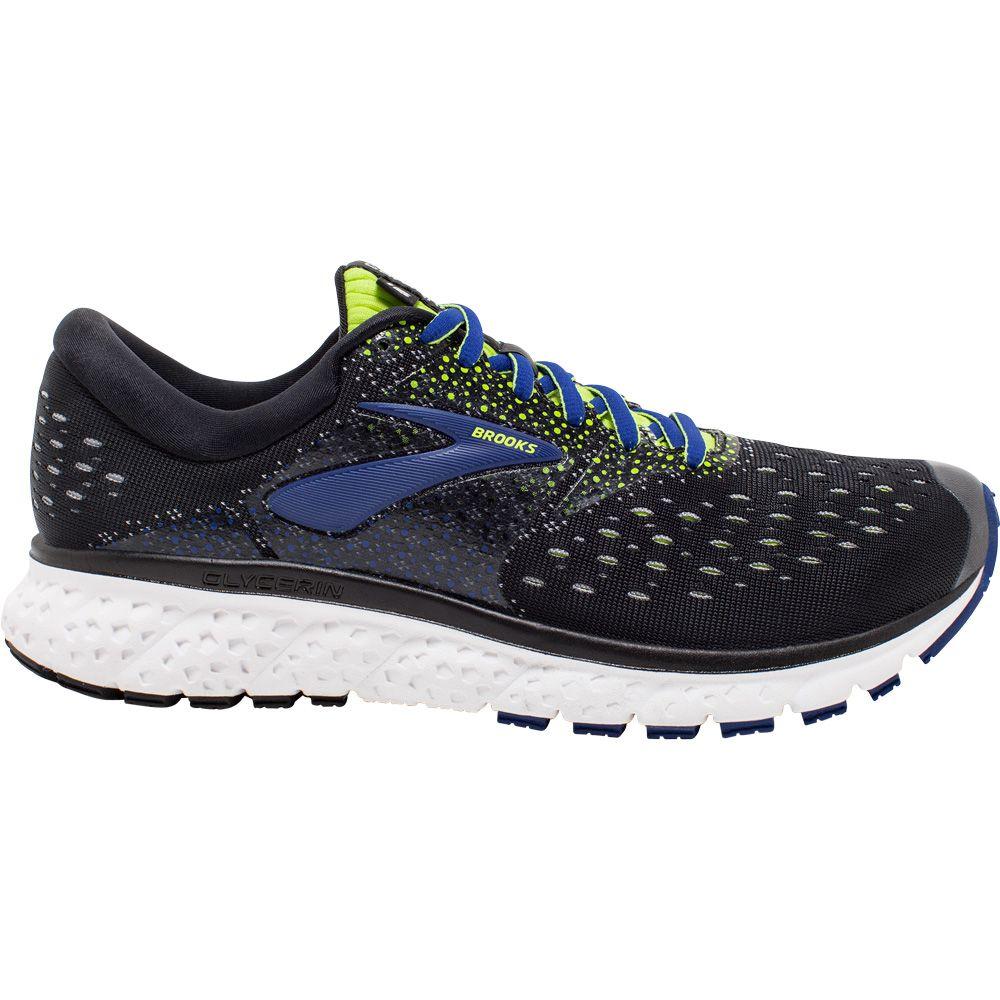 Running Shoes Men black lime blue