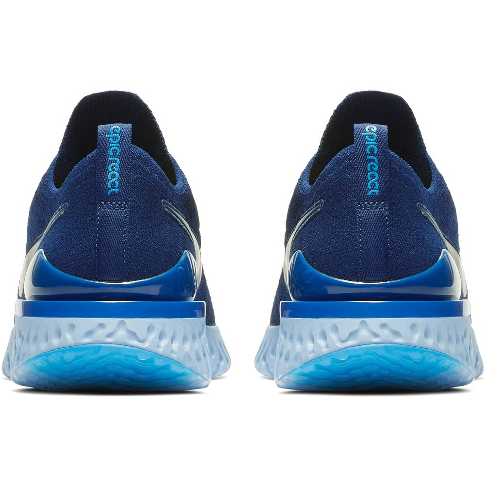 Nike Epic React Flyknit 2 Laufschuhe Herren blue void indigo force black