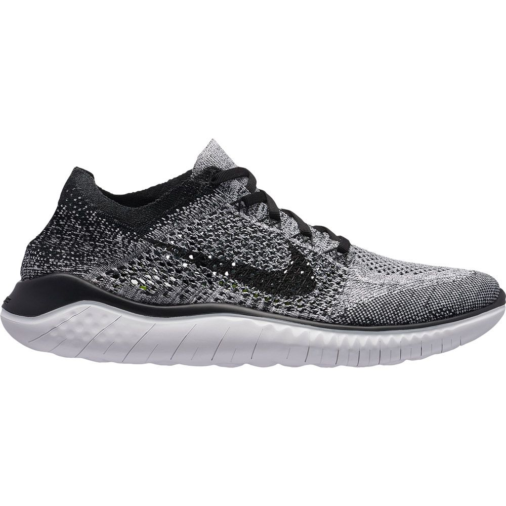 Nike Free RN Flyknit 2018 Running Shoes Men white black at