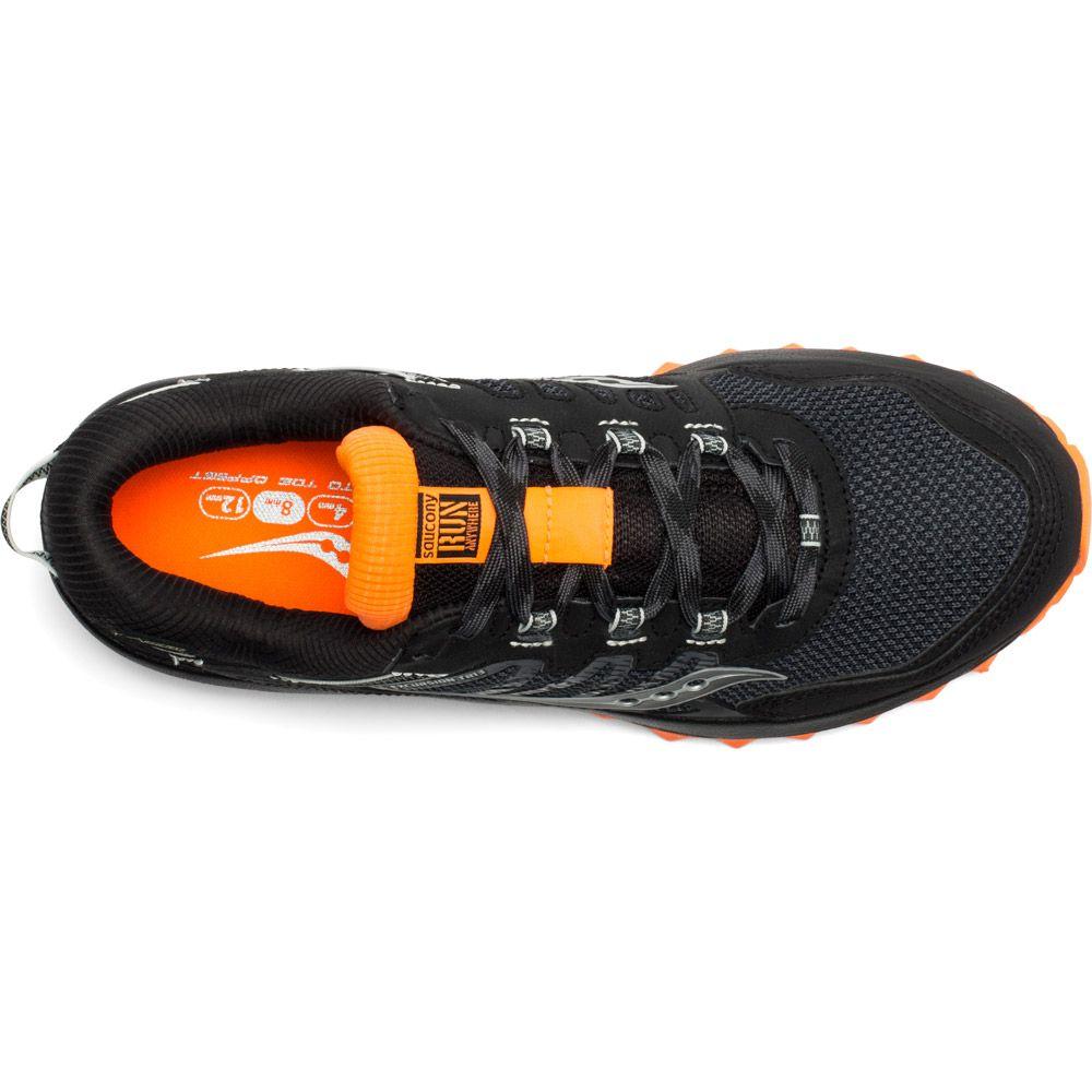 Saucony Excursion TR13 GTX Trailrunning Schuhe Herren schwarz orange