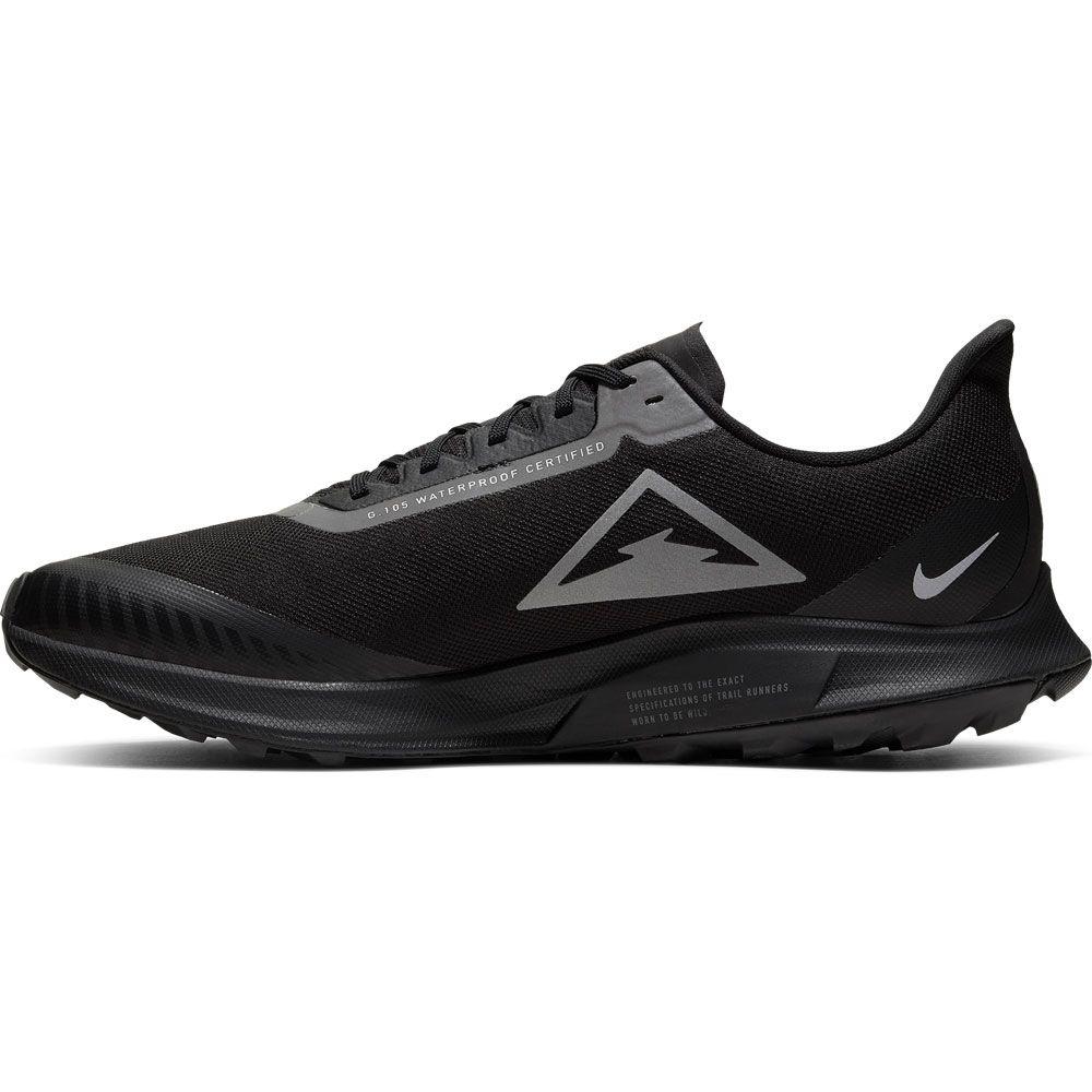 Nike Zoom Pegasus 36 Trail GTX Running Shoes Men black thunder grey total orange