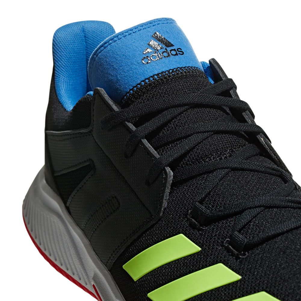adidas Stabil Essence Indoor Shoes Men core black hi res yellow active red