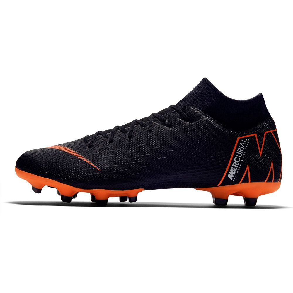 e19a7ef00 Nike Mercurial Superfly VI Academy MG Football Boots Men black white total  orange