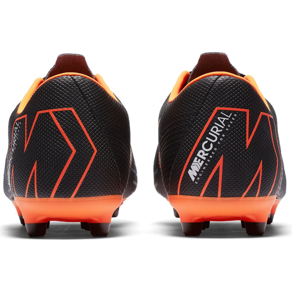 Mercurial Vapor XII Academy MG Football Boots black white total orange