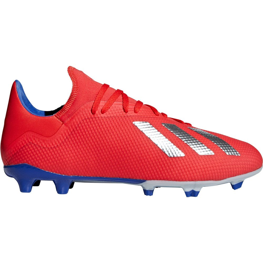 adidas X 18.3 FG Football Shoes Men active red silver met bold blue