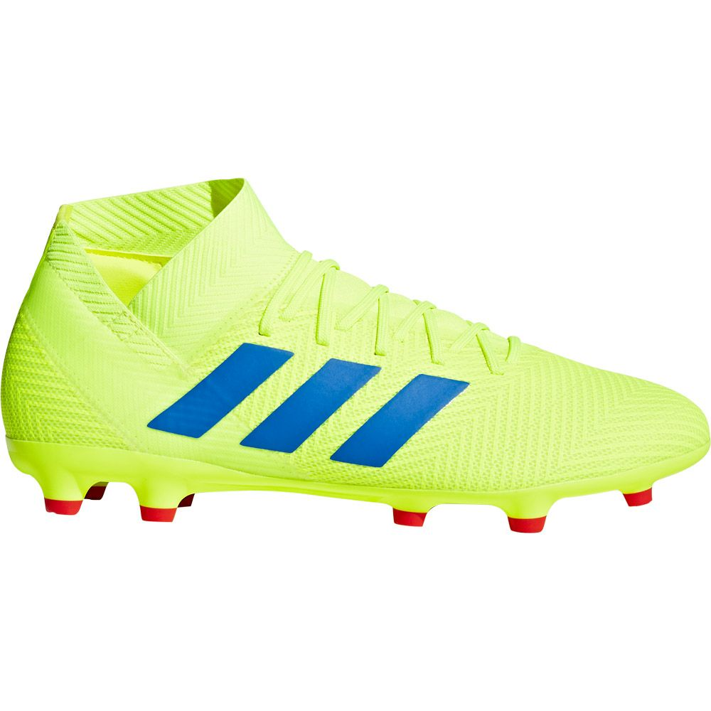 adidas Nemeziz 18.3 FG Football Shoes Men solar yellow football blue active red