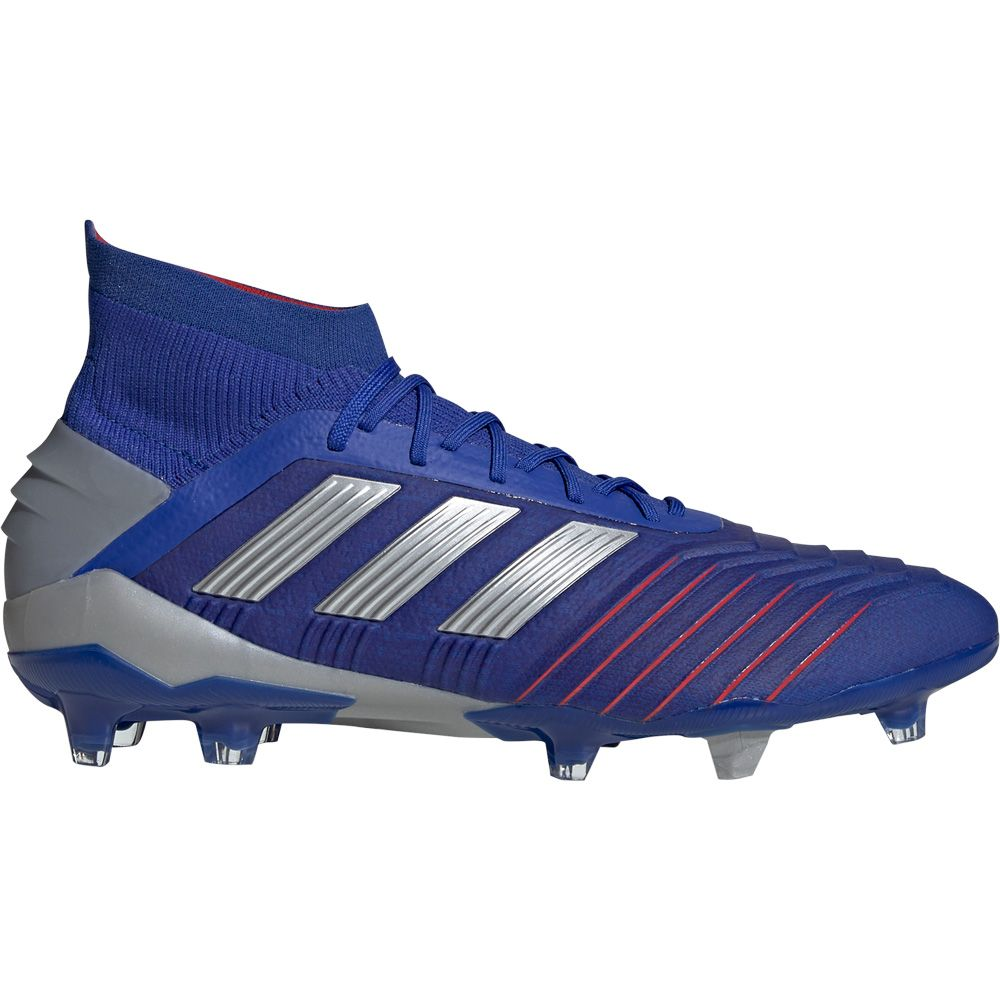 adidas Predator 19.1 FG Football Shoes Men bold blue silver met football blue