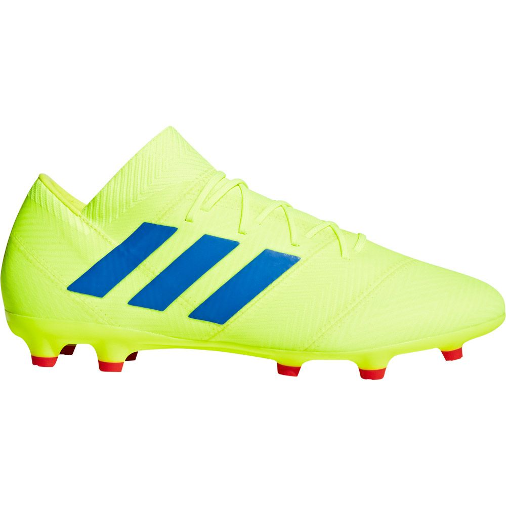adidas Nemeziz 18.2 FG Football Shoes Men solar yellow football blue active red