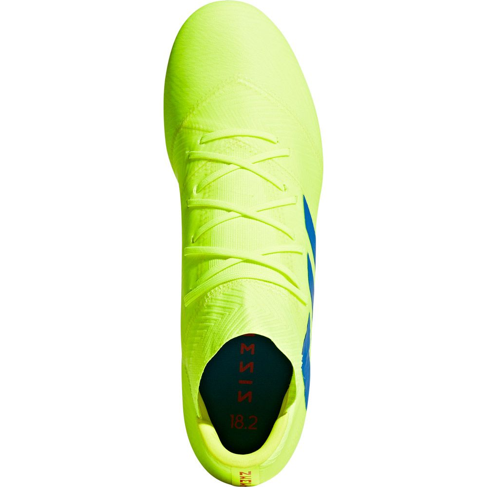 f457c7d61d9 Nemeziz 18.2 FG Football Shoes Men solar yellow football blue active red