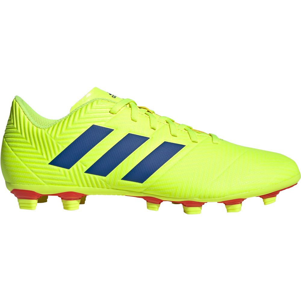 785ddb9c86b adidas Nemeziz 18.4 FxG Football Shoes Men solar yellow football blue  active red