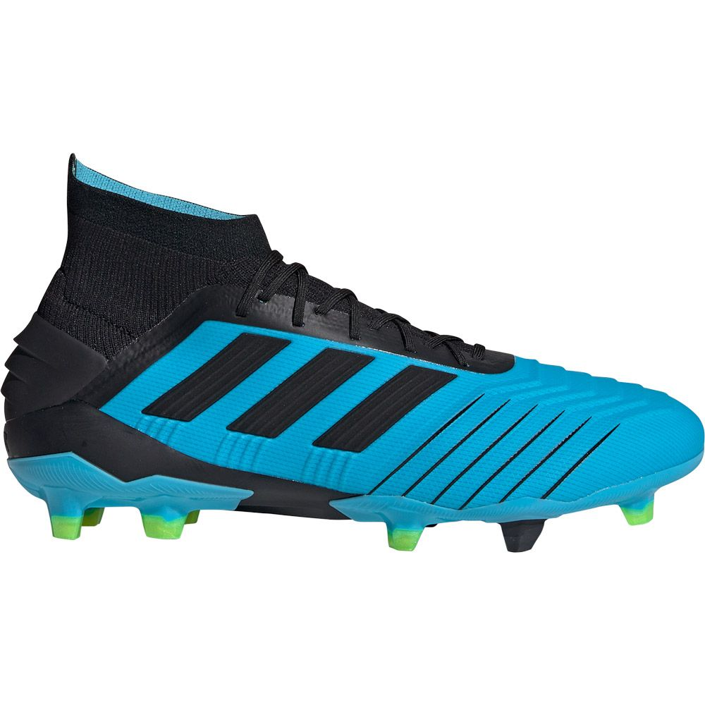 adidas Predator 19.1 FG Football Shoes Men bright cyan core black solar yellow