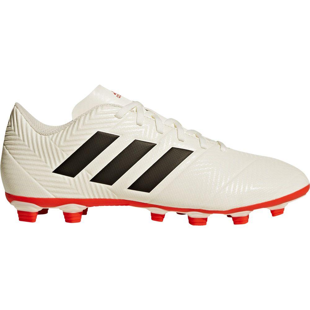 e6859bf80cac adidas Nemeziz 18.4 FxG Football Shoes Men off white core black active red