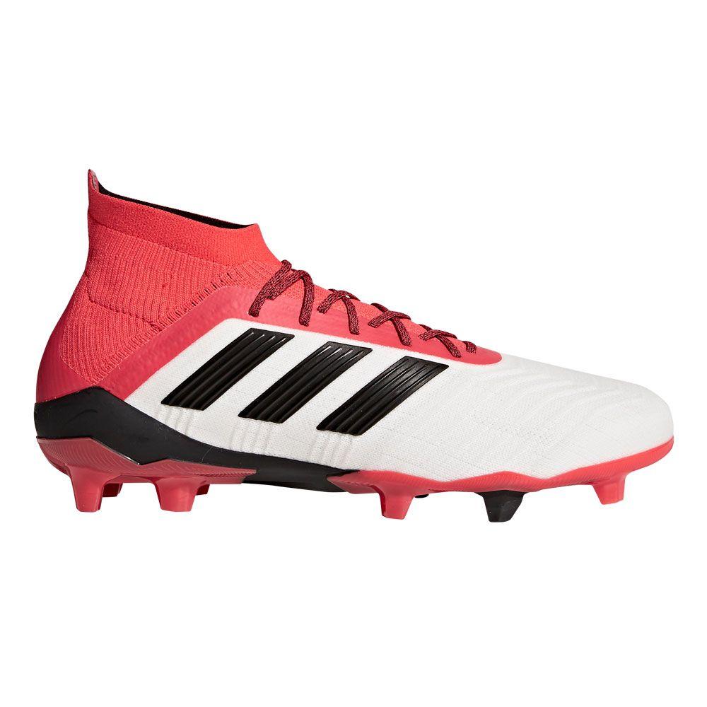Predator 18.1 FG Football Shoes Men white core black real coral