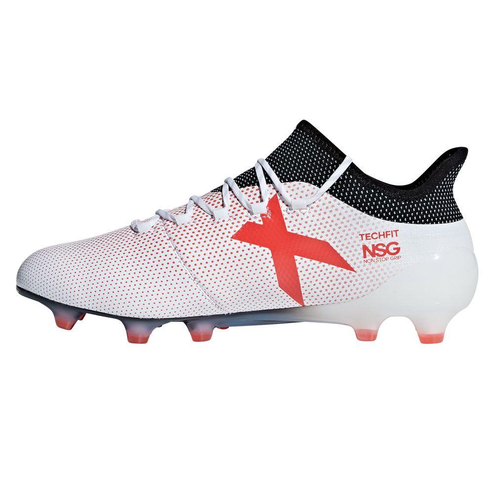 X 17.1 FG Football Shoes Men ftwr white real coral core black