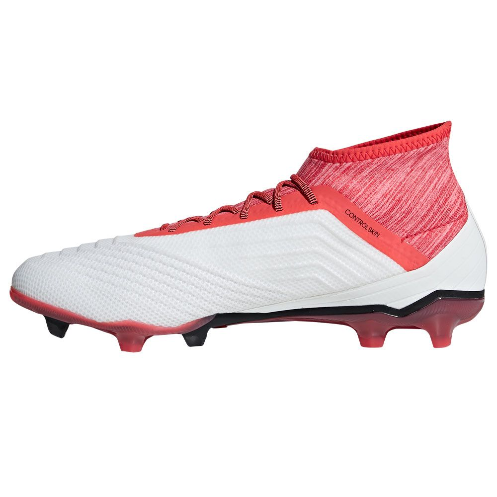 Predator 18.2 FG Football Shoes Men ftwr white core black real coral