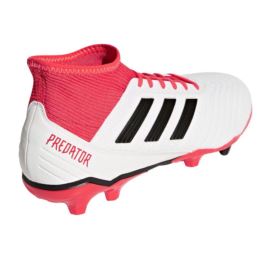 Predator 18.3 FG Football Shoes Men ftwr white core black real coral