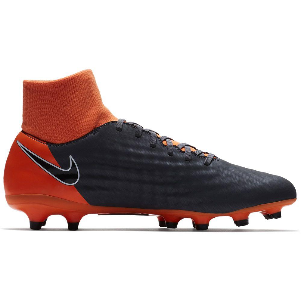 Magista Obra II Academy Dynamic Fit FG Fußballschuhe Herren dunkelgrau total orange weiß schwarz
