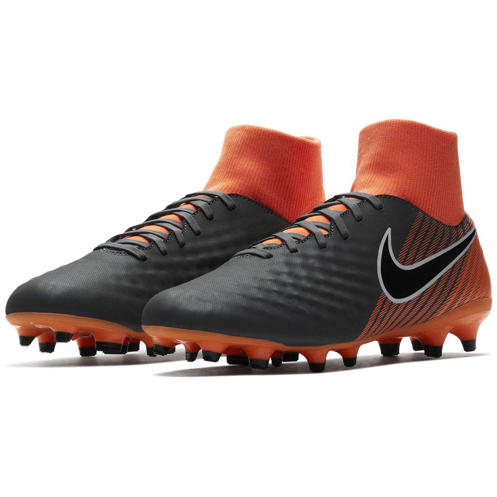 Nike Magista Obra II Academy Dynamic Fit FG Fußballschuhe Herren dunkelgrau total orange weiß schwarz