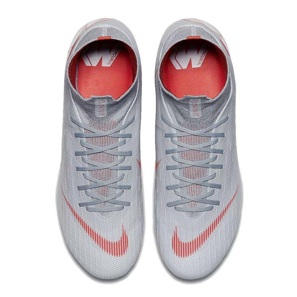 Nike Mercurial Superfly Vi Pro Fg Football Shoes Men Grey