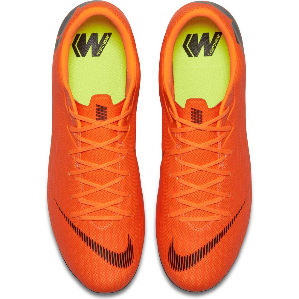 Mercurial Vapor XII Academy MG Fußballschuhe Herren total orange volt schwarz