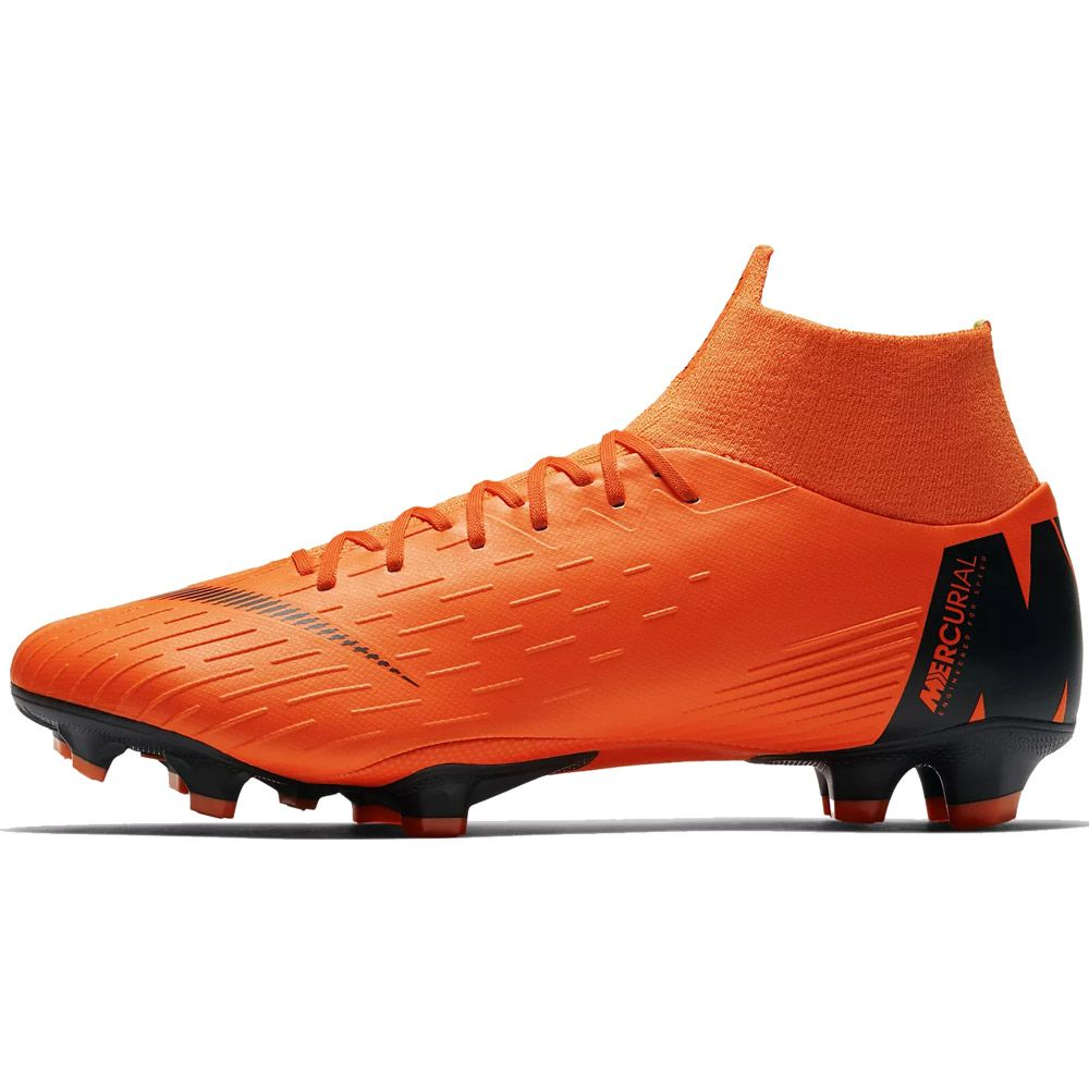 6f5d70f7e384 Nike Mercurial Superfly VI Pro FG Football Boots Men total orange volt white