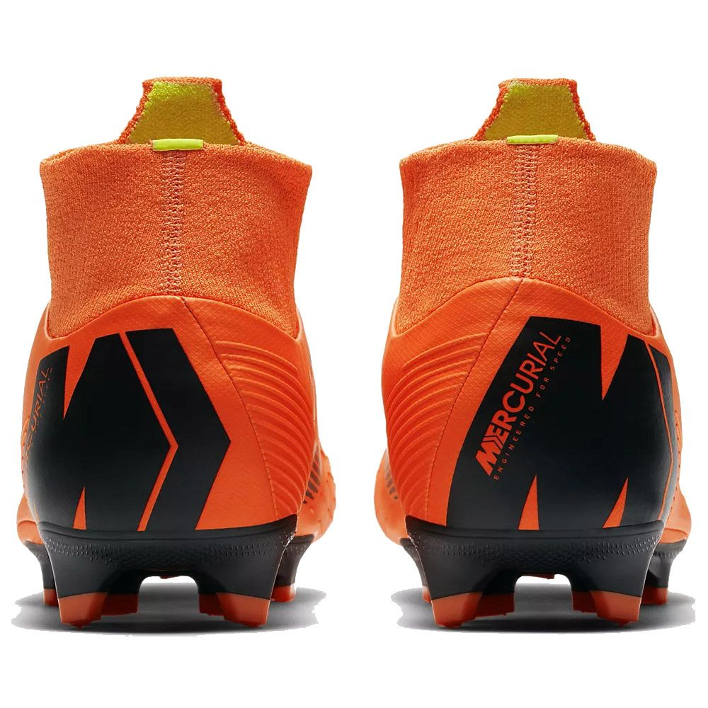 Mercurial Superfly VI Pro FG Football Boots Men total orange volt white