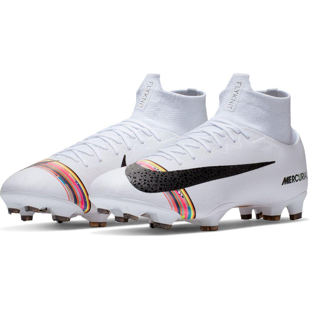 Nike Superfly 6 Pro CR7 LVL UP FG Fußballschuhe Herren pure platinum white black
