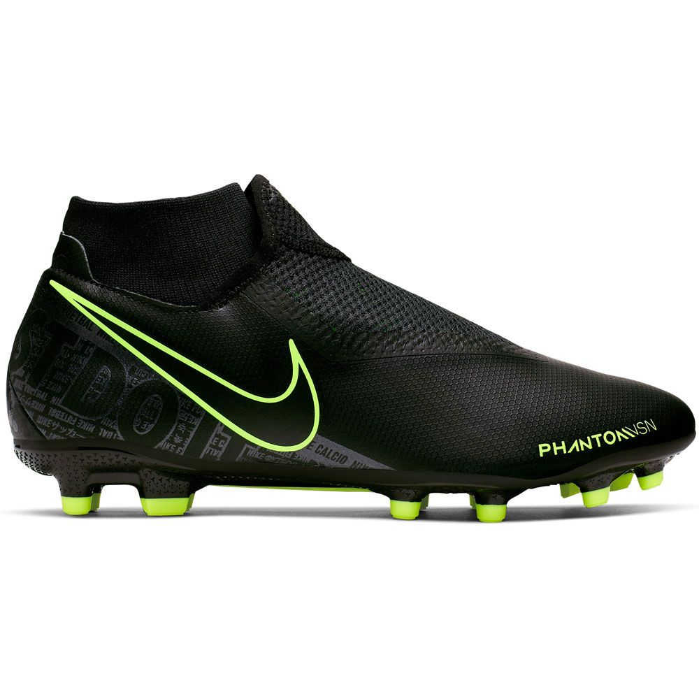 Nike Phantom Vision Academy Dynamic Fit Mg Soccer Shoes Men Black Black Volt