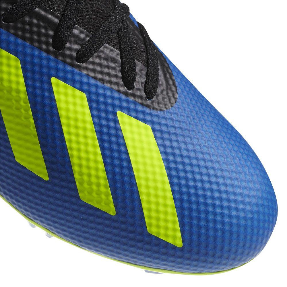 adidas X 18.3 FG Football Boots Men football blue solar yellow core black