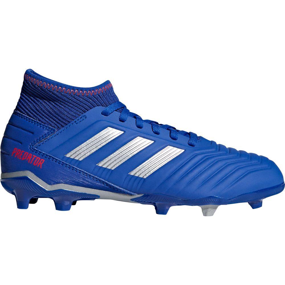 Adidas Predator 19 3 Fg Fussballschuhe Kinder Bold Blue Silver Met Active Red
