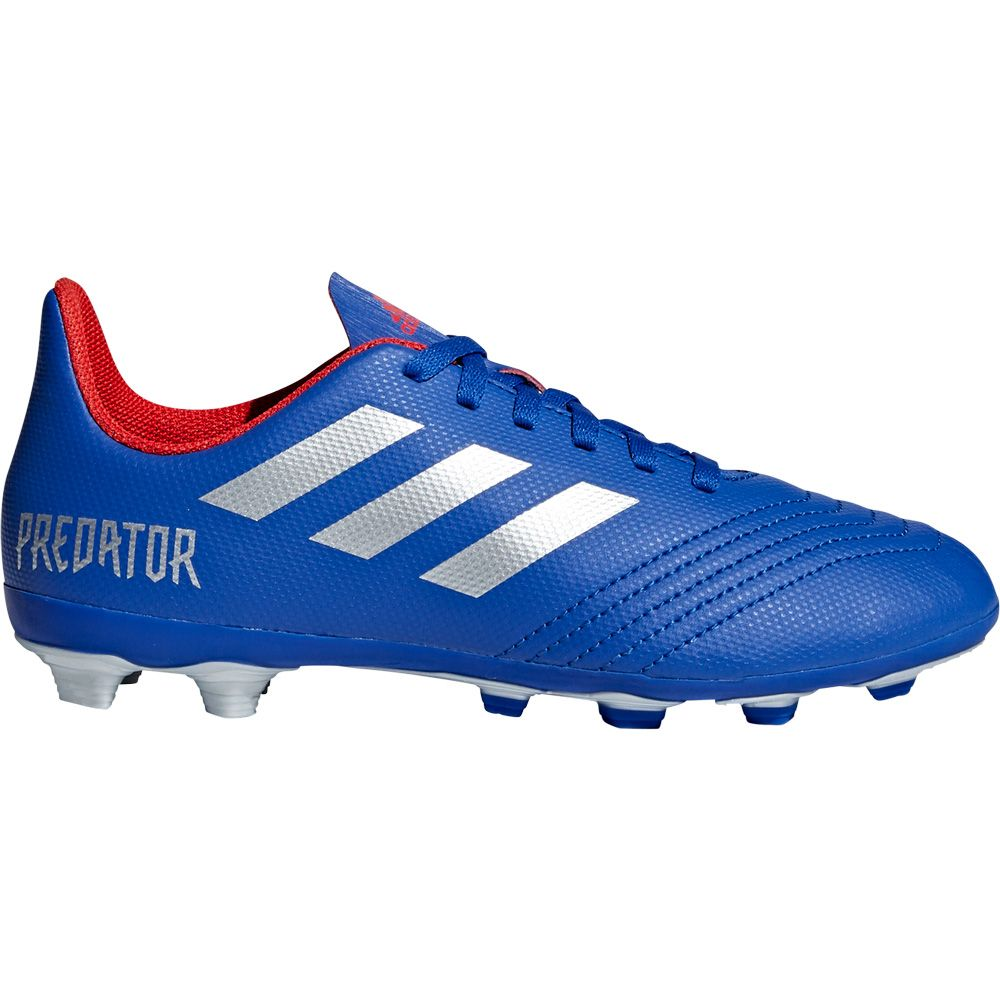 6d641e9a351 adidas Predator 19.4 FxG J Football Shoes Kids bold blue silver met active  red