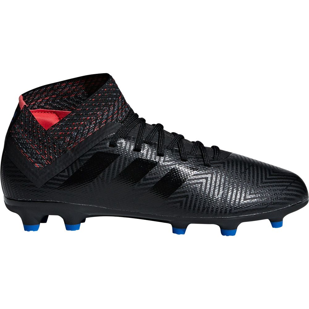 adidas Nemeziz 18.3 FG Football Shoes Kids core black football blue active red