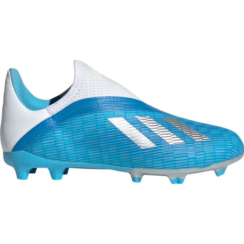 Adidas X 19 3 Ll Fg Football Shoes Kids Bright Cyan Silver Metallic Shock Pink