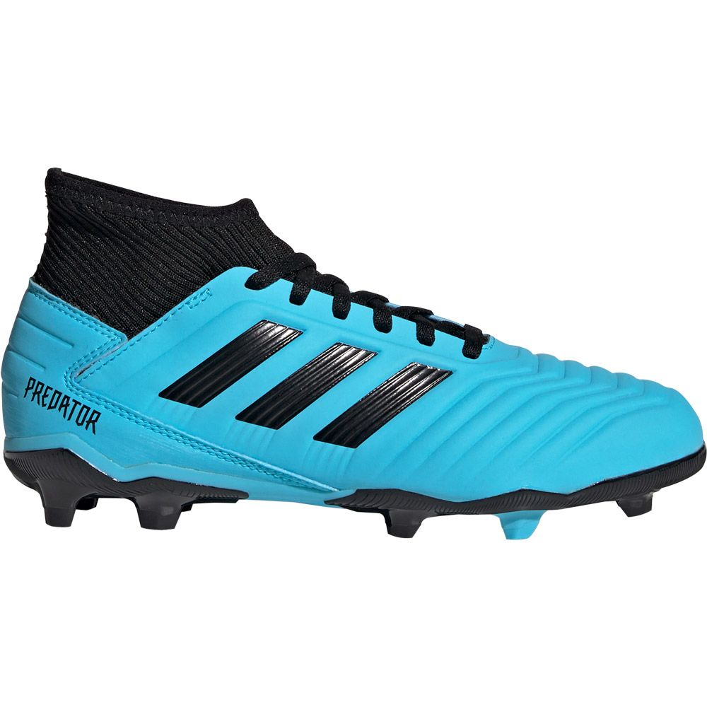 adidas Predator 19.3 FG Football Shoes Kids bright cyan core black solar yellow