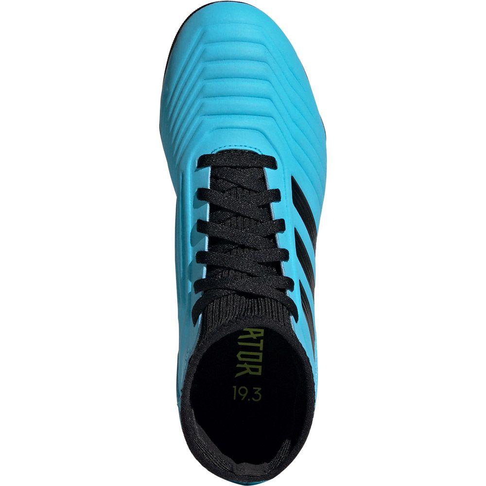Adidas Predator 19 3 Fg Football Shoes Kids Bright Cyan Core Black Solar Yellow