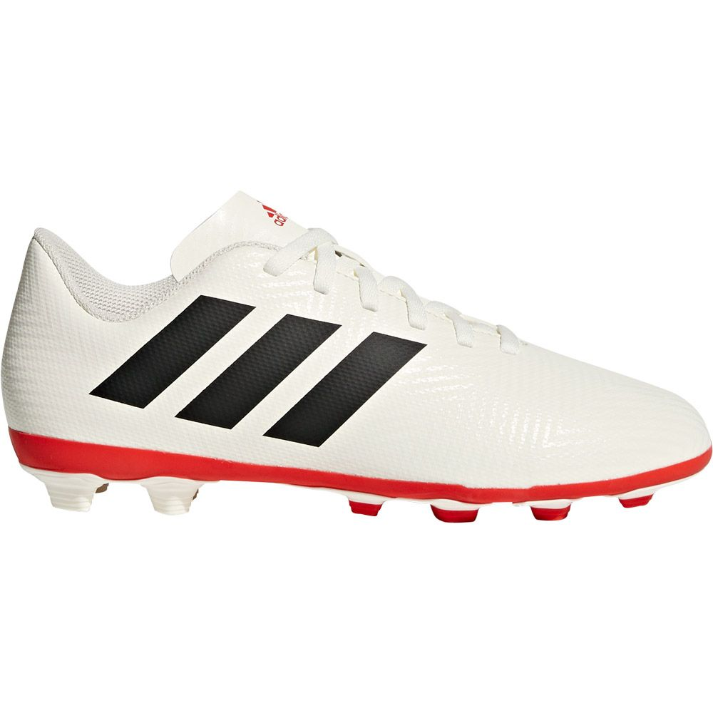 18d5e5c15fc46 adidas Nemeziz 18.4 FxG J Football Boots Kids off white core black active  red