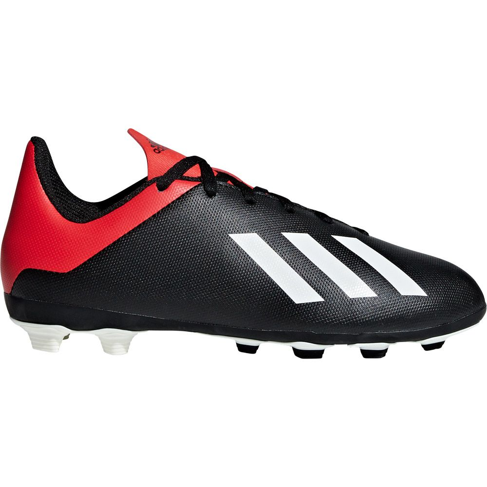 adidas X 18.4 FxG J Fußballschuhe Kinder core black off white active red