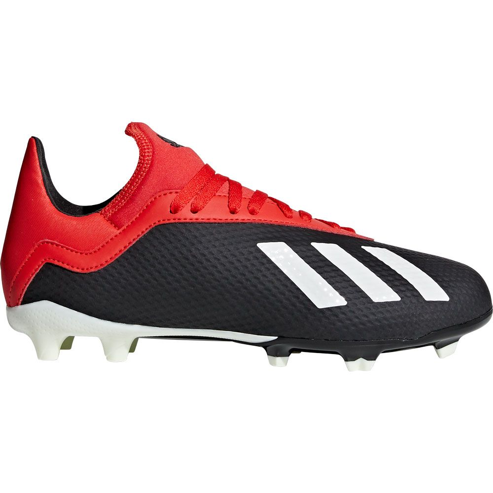 new style f7536 38de7 X 18.3 FG J Fußballschuhe Kinder core black off white active red
