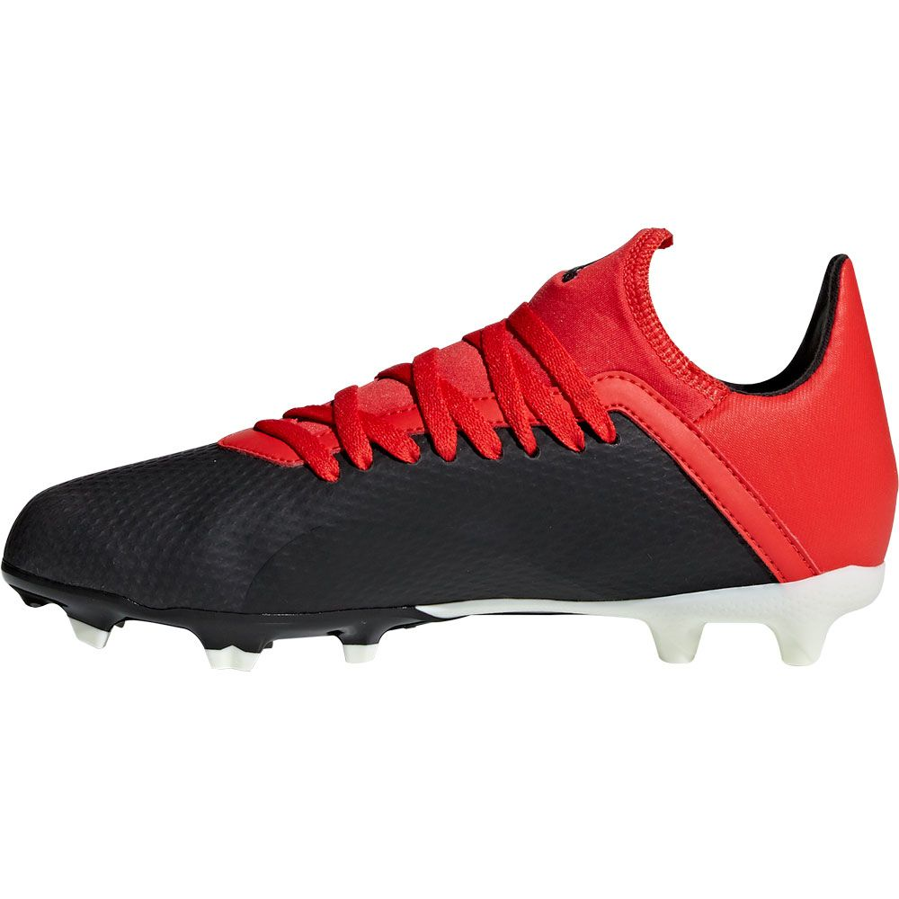 adidas X 18.3 FG J Fußballschuhe Kinder core black off white active red