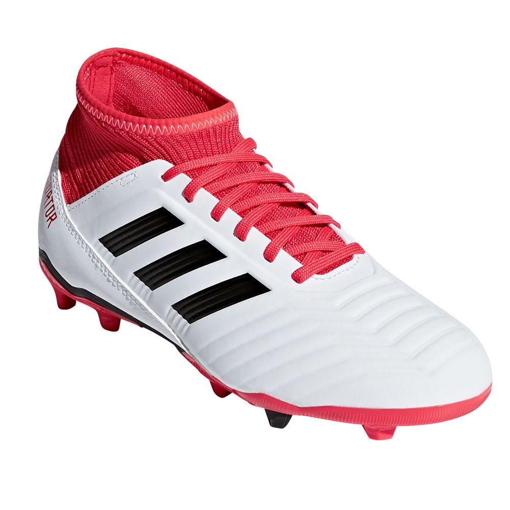 adidas - Predator 18.3 FG football shoes kids white at Sport Bittl Shop 8800d1942