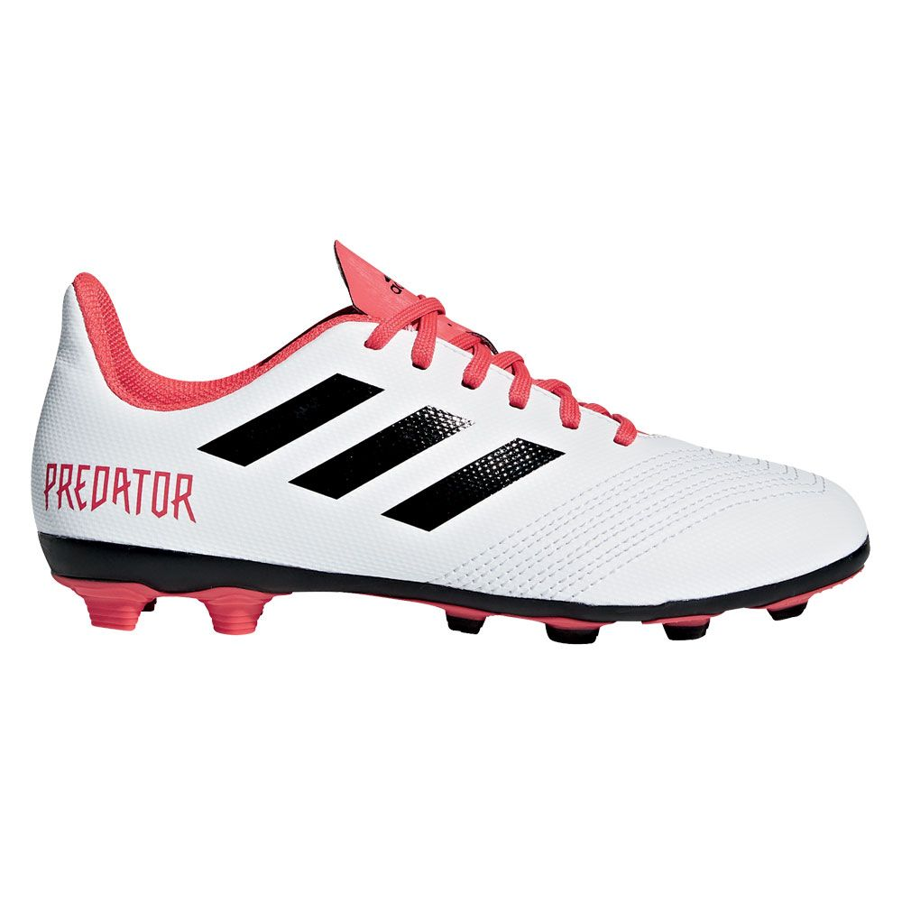 huge discount 3a1cd 84d9d adidas Predator 18.4 FxG Football Shoes Kids ftwr white core black real  coral