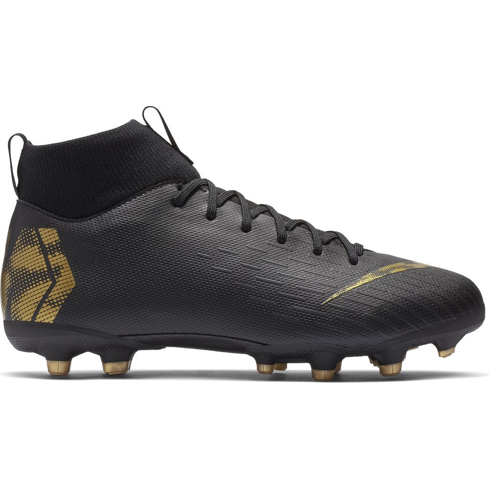 2b1ac95f864 Nike Jr. Superfly VI Academy MG Football Shoes Kids black metallic vivid  gold